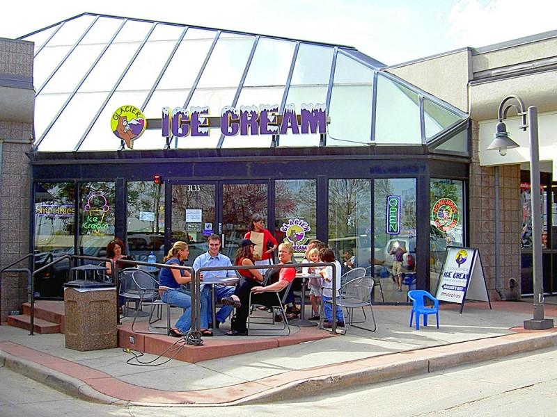 Glacier ice cream store 28th Boulder
