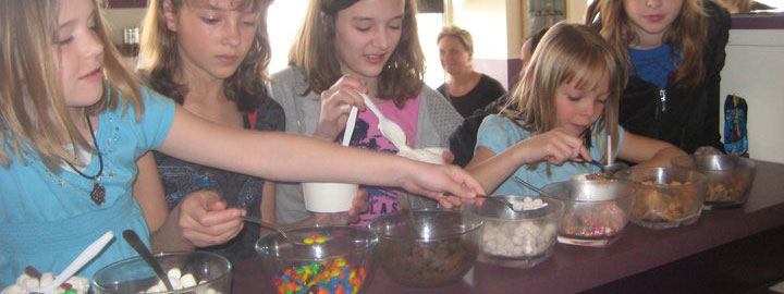 Ice cream catering for kids